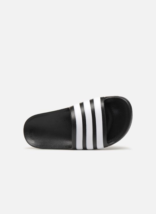 Sandals adidas performance Adilette Aqua K Black view from the left