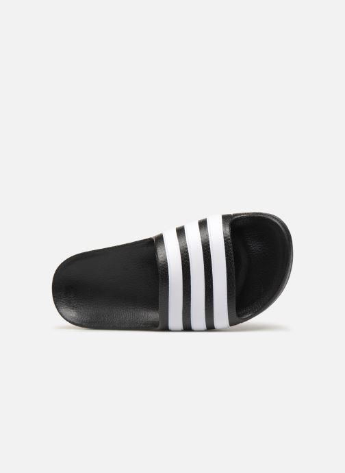Sandalen adidas performance Adilette Aqua K Zwart links
