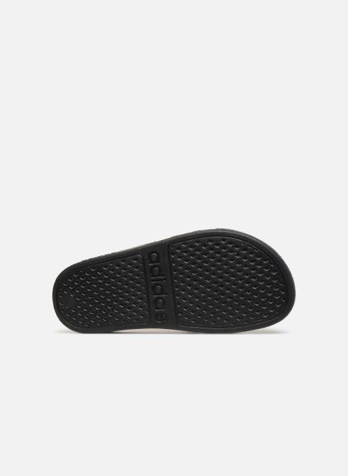 Sandali e scarpe aperte adidas performance Adilette Aqua K Nero immagine dall'alto
