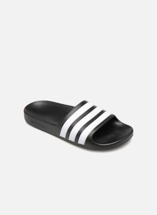 Sandals adidas performance Adilette Aqua K Black detailed view/ Pair view