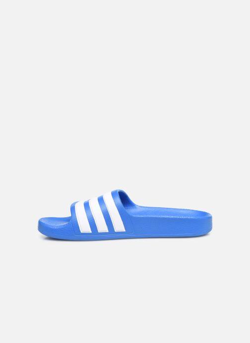 Sandales et nu-pieds adidas performance Adilette Aqua K Bleu vue face
