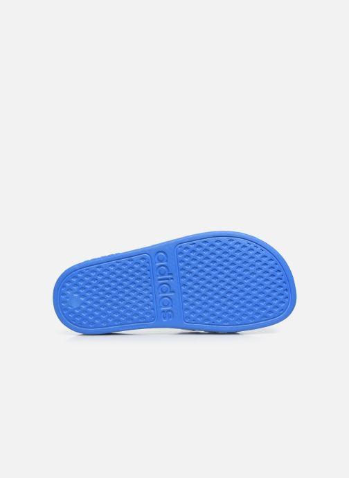 Sandales et nu-pieds adidas performance Adilette Aqua K Bleu vue haut