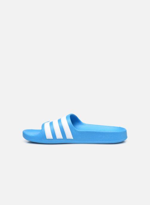 Sandalias adidas performance Adilette Aqua K Azul vista de frente
