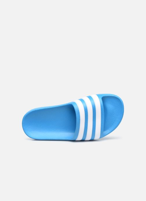 Sandalias adidas performance Adilette Aqua K Azul vista lateral izquierda