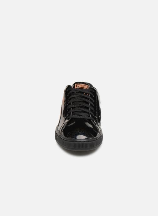 Sneaker Puma Basket Mirror schwarz schuhe getragen