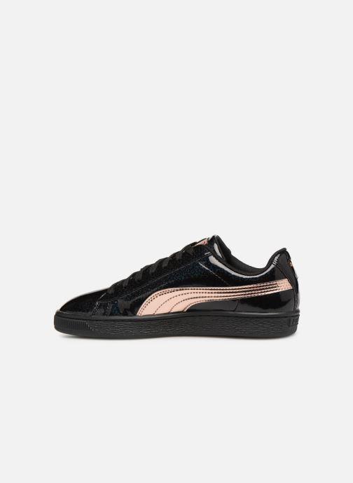 Sneaker Puma Basket Mirror schwarz ansicht von vorne