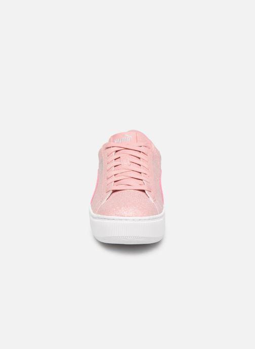 Baskets Puma Vikky Platform Glitz Rose vue portées chaussures