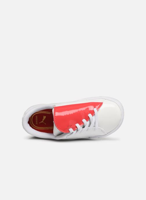 Baskets Puma Crush Patent Blanc vue gauche