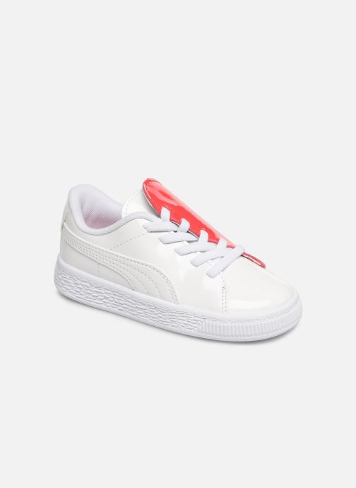 Baskets Puma Crush Patent Blanc vue détail/paire