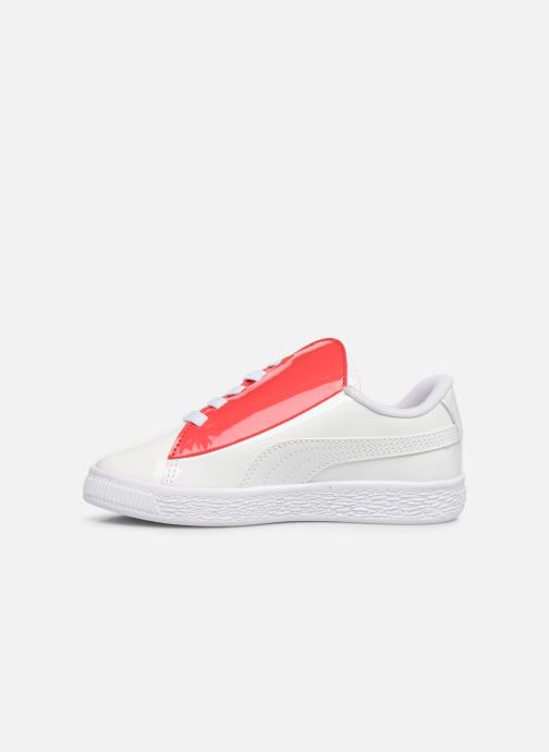 Baskets Puma JR Crush Patent Blanc vue face