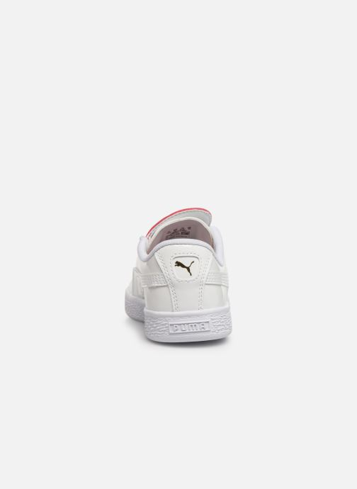 Baskets Puma JR Crush Patent Blanc vue droite