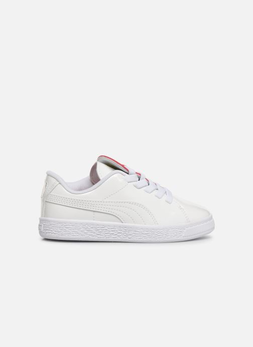 Baskets Puma JR Crush Patent Blanc vue derrière