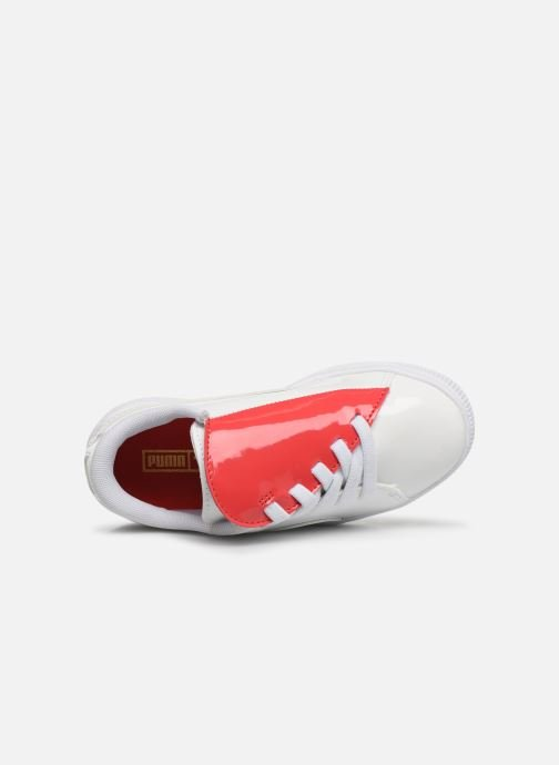 Baskets Puma JR Crush Patent Blanc vue gauche