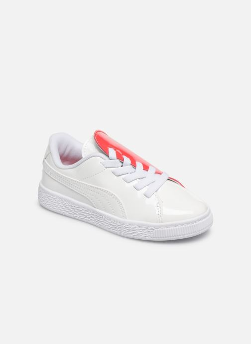 Baskets Puma JR Crush Patent Blanc vue détail/paire