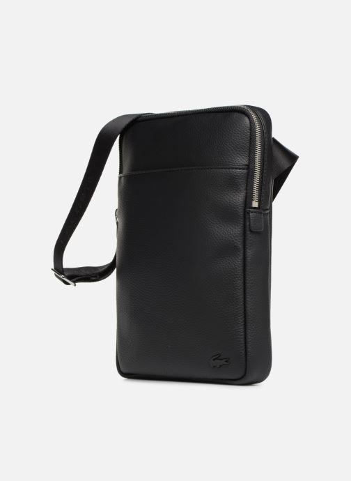 Bolsos de hombre Lacoste GAEL M FLAT CROSSOVER BAG Negro vista del modelo