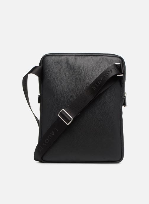 Herrentaschen Lacoste GAEL M FLAT CROSSOVER BAG schwarz ansicht von vorne