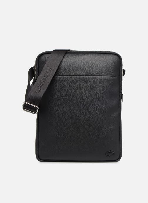 Bolsos de hombre Lacoste GAEL M FLAT CROSSOVER BAG Negro vista de detalle / par