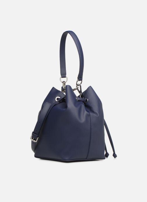 Sacs à main Lacoste DAILY CLASSIC BUCKET BAG Bleu vue droite