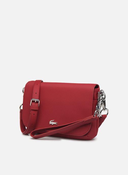 Handtaschen Lacoste DAILY CLASSIC S CROSSOVER BAG weinrot schuhe getragen