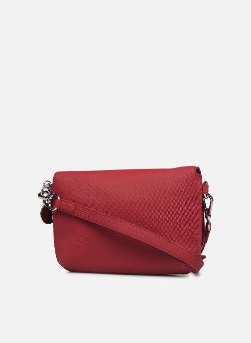 Handtaschen Lacoste DAILY CLASSIC S CROSSOVER BAG weinrot ansicht von rechts