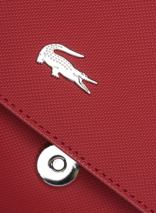 Handbags Lacoste DAILY CLASSIC S CROSSOVER BAG Burgundy view from the left