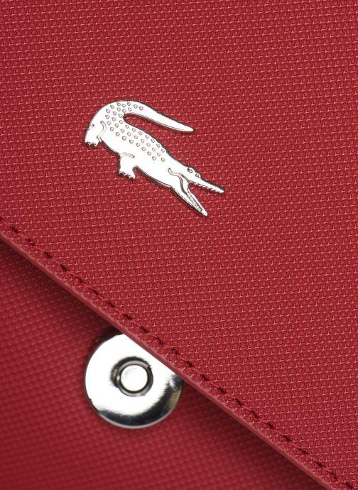 Handtaschen Lacoste DAILY CLASSIC S CROSSOVER BAG weinrot ansicht von links