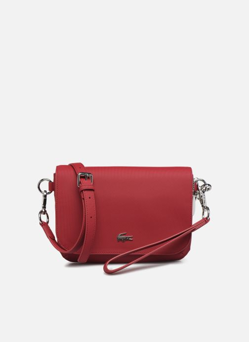 Handbags Lacoste DAILY CLASSIC S CROSSOVER BAG Burgundy detailed view/ Pair view