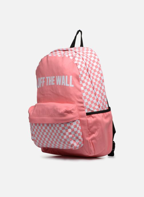 Mochilas Vans CENTRAL REALM BACKPACK Rosa vista del modelo
