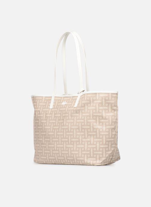 Handtaschen Lacoste CROISIERE M SHOPPING BAG beige schuhe getragen