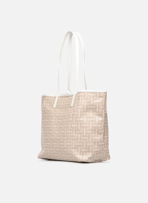Handtaschen Lacoste CROISIERE M SHOPPING BAG beige ansicht von rechts