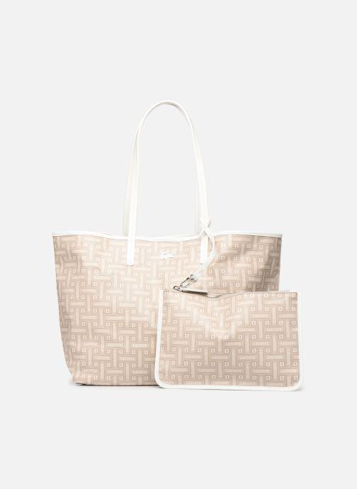 Handtaschen Lacoste CROISIERE M SHOPPING BAG beige ansicht von links