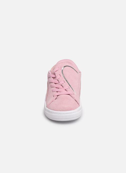 Baskets Puma Suede Crush Rose vue portées chaussures