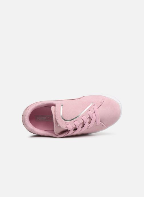 Baskets Puma JR Suede Crush Rose vue gauche