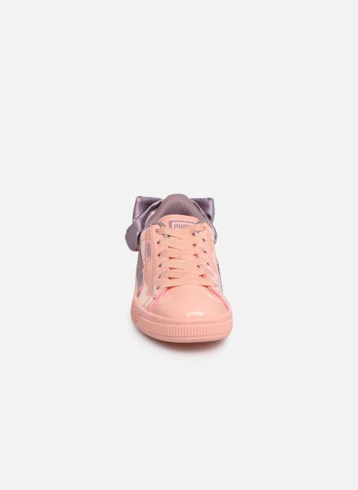 Baskets Puma Basket Bow Dots Peach Orange vue portées chaussures