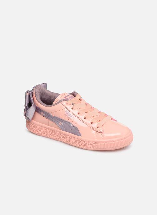 Baskets Puma Basket Bow Dots Peach Orange vue détail/paire