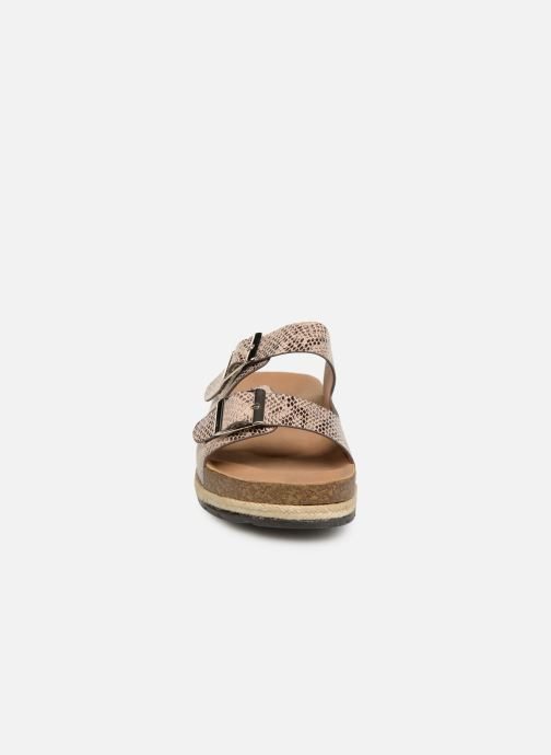 Zuecos I Love Shoes THASMIN Beige vista del modelo
