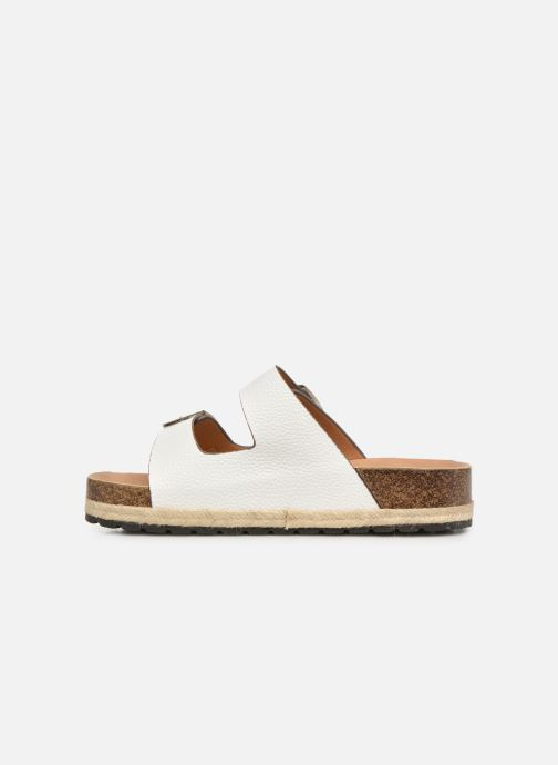 Zuecos I Love Shoes THASMIN Blanco vista de frente