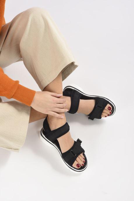 Sandales et nu-pieds I Love Shoes THILY Noir vue bas / vue portée sac