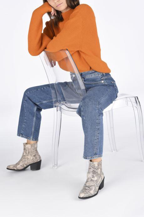 Bottines et boots I Love Shoes THITIAG Beige vue bas / vue portée sac