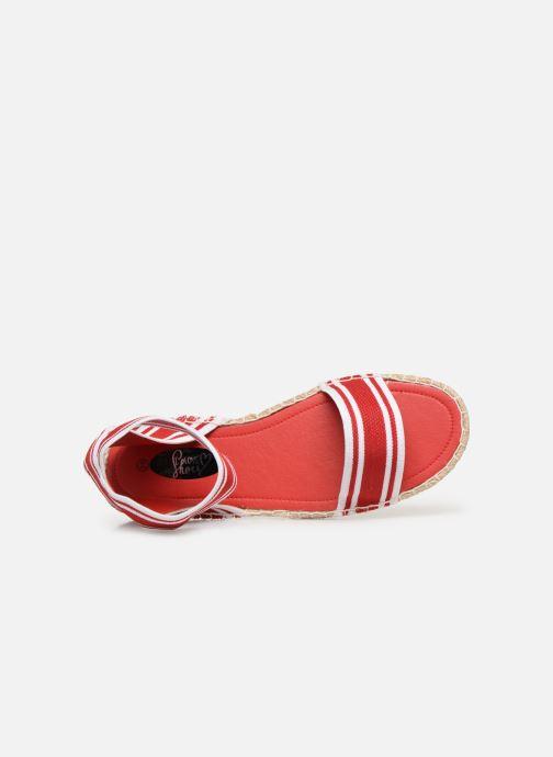 Sandalias I Love Shoes THUC Rojo vista lateral izquierda