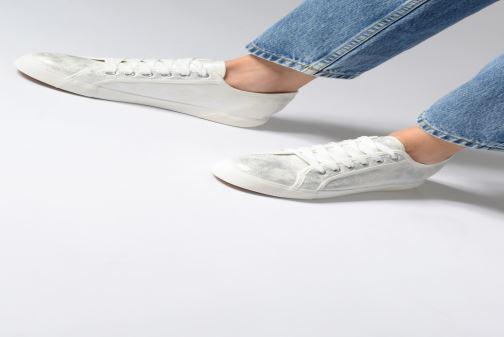Baskets I Love Shoes THIA Blanc vue bas / vue portée sac