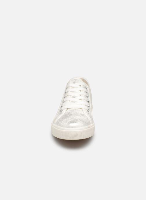 Baskets I Love Shoes THIA Argent vue portées chaussures
