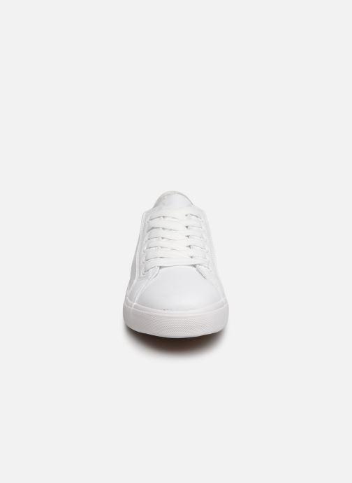 Baskets I Love Shoes THIA Blanc vue portées chaussures