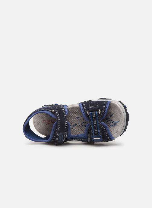 Sandalen Superfit Mike2 blau ansicht von links