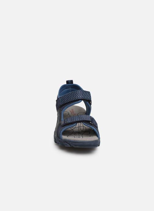 Sandales et nu-pieds Superfit Hike Bleu vue portées chaussures