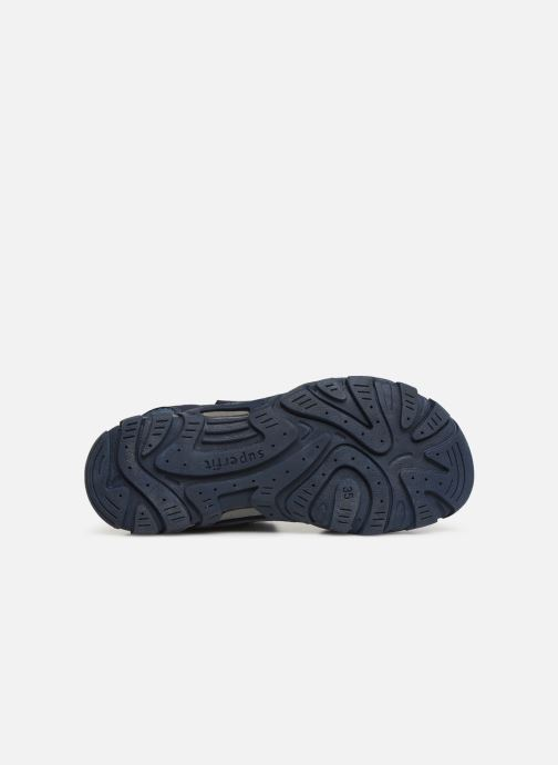 Sandales et nu-pieds Superfit Hike Bleu vue haut