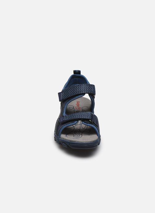 Sandalen Superfit Hike blau schuhe getragen