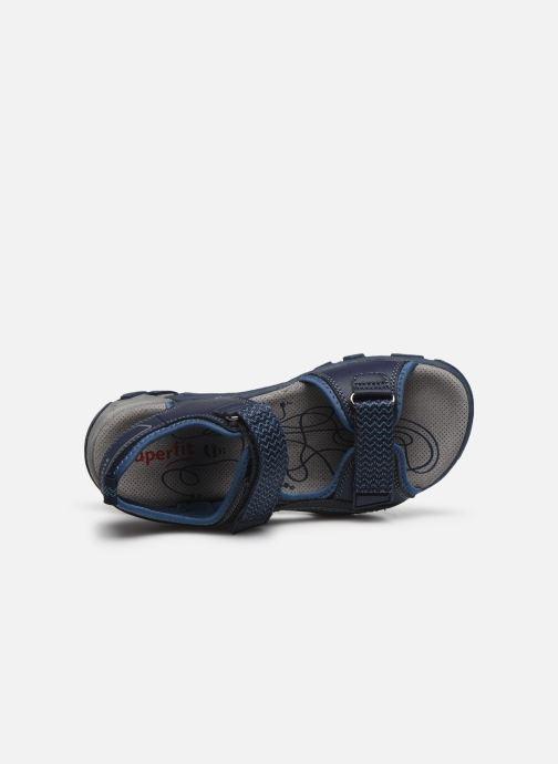 Sandalen Superfit Hike blau ansicht von links