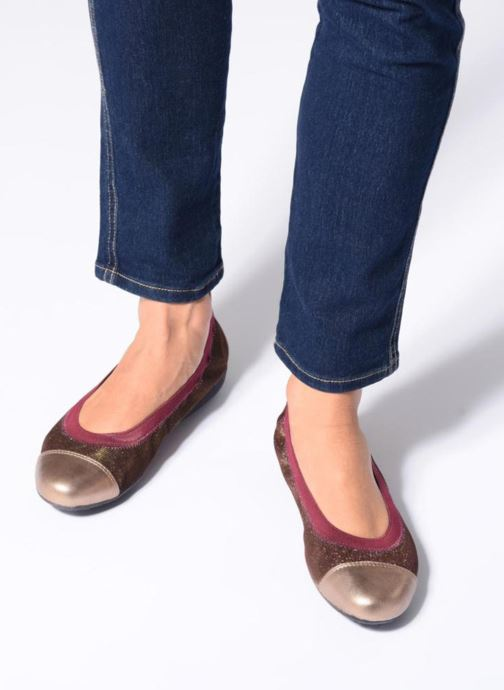 Ballet pumps Geox D Piuma Bal A D44D8A Bronze and Gold view from underneath / model view