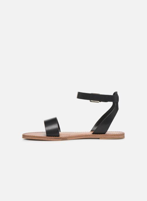 Sandales et nu-pieds Aldo CAMPODORO Noir vue face